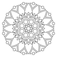 Free printable mandala coloring pages by sherry