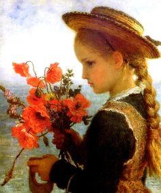Poppy girl. Karl Wilhelm Friedrich Bauerle