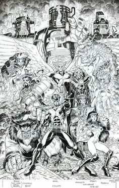 X-Men: Millennial Visions 2000 by Arthur Adams Look at the footnote to understand who is who…
