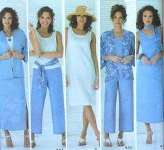 Plus Size Wardrobe Sewing Pattern Plus Size Patterns, Easy Sewing Patterns, Clothing Patterns, Vintage Patterns, Sewing Ideas, Sewing Clothes, Diy Clothes, Plus Size Summer Fashion, Sewing Essentials