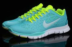 hot sale online e7018 833b6 UK Nike Free TR FIT Womens Blue Green Green Running Shoes