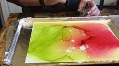 Creating Alcohol Ink art