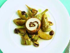 Hähnchen-Involtini mit Artischockengemüse