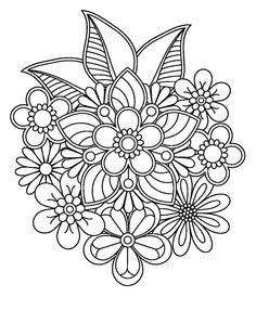 abstract coloring pages for adults Free Adult Coloring Pages, Flower Coloring Pages, Mandala Coloring Pages, Printable Coloring Pages, Mandala Drawing, Mandala Art, Colouring Pics, Coloring Books, Mandala Pattern