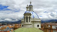 """The blue tile domes of the """"New Cathedral"""""""