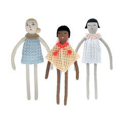 Melosina / Etsy / crochet dolls