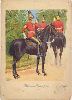 British; 4th (Princess Royal's) Dragoon Guards, 1909 by Ernest Ibbetson