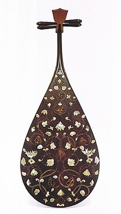 Japanese lute, Biwa 琵琶, property of Shoso-in, 701~156, Japan #OrientArt #China #Japan #OrientalArt #OrientCustom