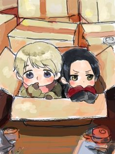 Hetalia - Chibi Russia and China : Mail Cute - Can I take them home with me