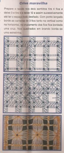 Amostra de crivo maravilha Hardanger Embroidery, Cross Stitch Embroidery, Hand Embroidery, Drawn Thread, Thread Work, Needle Lace, Bobbin Lace, Filet Crochet, Crochet Lace