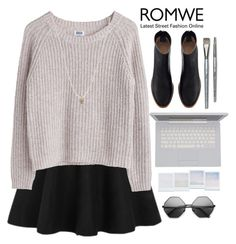 """ROMWE"" by rarranere ❤ liked on Polyvore featuring MTWTFSS Weekday, Holga, ASOS and Simmons"