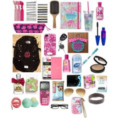 Great back to school essentials for any middle/high school girl Middle School Supplies, School Kit, Make School, Prep School, School Hacks, School Stuff, School Ideas, School Organization For Teens, School Plan