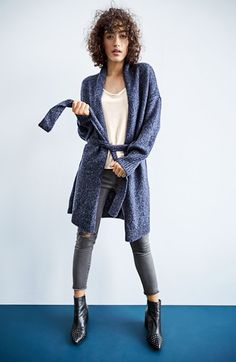 Hinge Cardigan, Cami and Treasure&Bond Jeans Outfit with Accessories available at #Nordstrom