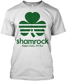 88c4ee654 Kappa Delta Shamrock 5k T-shirt | Metrogreek - Greek T-shirts Sorority  Little