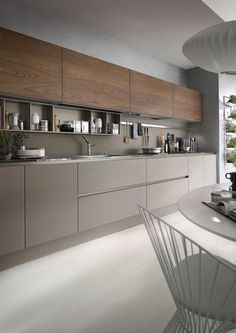 The best modern kitchen design this year. Are you looking for inspiration for your home kitchen design? Take a look at the kitchen design ideas here. There is a modern, rustic, fancy kitchen design, etc. Modern Kitchen Cabinets, Kitchen Cabinet Design, Interior Design Kitchen, Kitchen Designs, Kitchen Modern, Modern Kitchens, Kitchen Layout, Minimal Kitchen, Kitchen Contemporary