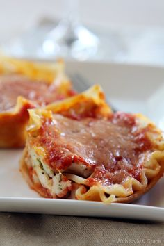 Lightened Spinach Lasagna Cups, Gluten-free   With Style & Grace