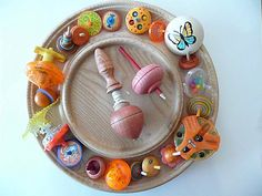 (orange) spinning tops collection