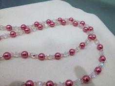 Un preferito personale dal mio negozio Etsy https://www.etsy.com/it/listing/220654929/collana-in-perle-di-vetro-bianche-e-rosa