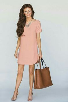 Beautiful Shift Dresses Fashion Suitable for Summer Cute Dresses, Casual Dresses, Short Dresses, Fashion Dresses, Outfit Essentials, Summer Business Casual Outfits, Business Dresses, Fashion Mode, Work Fashion