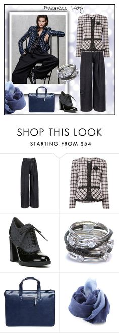 """""""Business Lady"""" by yaschy ❤ liked on Polyvore featuring Marc Jacobs, Tahari by Arthur S. Levine, Franco Sarto, Charriol, Setton Brothers, DESTIN and officelook"""