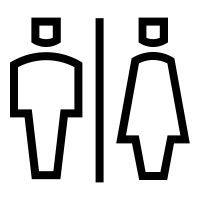 Restroom (bathroom) icon / pictogram created by Rafael Farias Leão for The Noun Project.