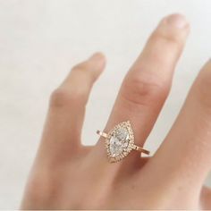 Next on our list: flaunt your finger with this breathtaking engagement ring from @nataliemariejewellery! Loving the incredible marquise cut 1.6 carat diamond set in rose gold with a fine diamond halo on a flat edged band. Who's inspired? Tag your partner to hint them! Follow our sister accounts for daily wedding inspirations: @thebridestory @thebridebestfriend @weddingdream @styleweddings by thewedlist