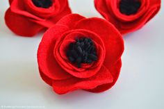 The Things She Makes: How to Make Felt Flowers | Poppies
