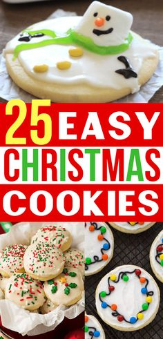 Easy Christmas Cookies!  Now I have the BEST Christmas Cookie Recipes for my holiday cookie exchange party! #christmascookies #christmascookierecipe #cookies #christmas #holidaycookies