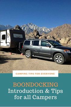 Finding a boondocking location is only the beginning! This guide will help you find out what boondocking is all about. Tips for camping 'off the grid'. #CTE Camping Spots, Camping Glamping, Camping Hacks, Camping For Beginners, Rv Campgrounds, Road Trip Adventure, Forest Service, Road Trip Hacks, Camping Essentials