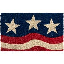"""Entryways Stars and Stripes Entry Mat - Coir, 17x28"""" in Red/White/Blue - Overstock"""