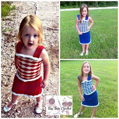 Free crochet pattern. I designed this dress for my girls to wear for Christmas last year and wanted to share the pattern with all of you!