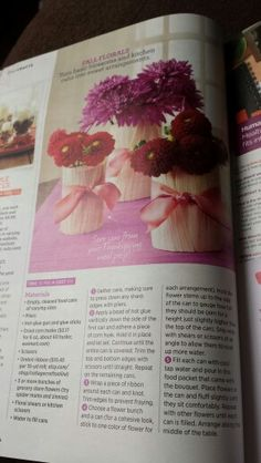 Make vases out of food jars with corn husks (from Woman's Day magazine)