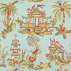 Great background color - pagodas, cranes, even a little coral. (Thibaut) I Love…
