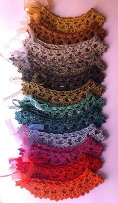 A choice of colors, crochet collar hand made & designed by Les Bijoux de Jane