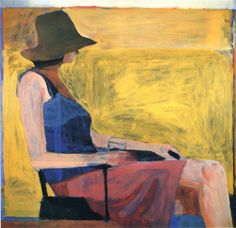 Richard Diebenkorn - Seated Figure with a Hat (1967)