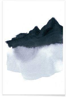 Mountainscape Minimal en Affiche premium par Iris Lehnhardt | JUNIQE