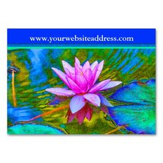 Lotus Lily Flower - Yoga Studio, Spa, Beauty Salon Business Cards. This great business card design is available for customization. All text style, colors, sizes can be modified to fit your needs. Just click the image to learn more!