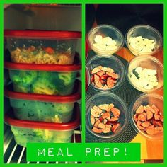 Meal prep for the week. I only started this a few weeks ago and it's made a huge difference. I figured out that if I make a weeks worth of meals, I mentally won't let myself waste food (bc I'm such a tight ass). It makes me eat healthy. and since I always eat my meals in a construction site office these are easy to pop in the micro and then I chow down! I sautée the meats and veggies the night before. As I get the hang of prep I hope to learn more variety. I'm starting to ge