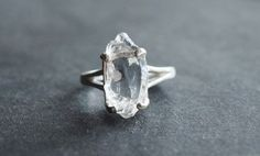 Handmade Raw Diamond Engagement Ring Rough Natural Uncut by Avello