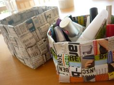 Upcycle newspaper it would be really cool done with comic strips