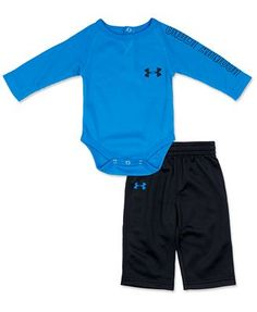 Under Armour Baby Set, Baby Boys 2-Piece Thermal Bodysuit and Tricot Pants