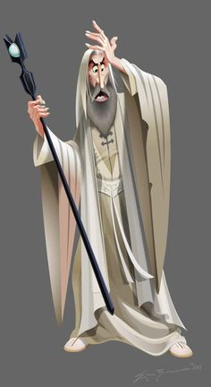 Eric Zermeno: Saruman The White Disney-style Lord of the Rings concept art for fun! Character Design Cartoon, Character Design References, 3d Character, Character Design Inspiration, Character Concept, Concept Art, Tolkien, Caricatures, Character Illustration