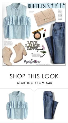 """""""All Ruffled Up ^TS"""" by rosie305 ❤ liked on Polyvore featuring Chicwish, Lands' End, NOVICA and ruffles"""