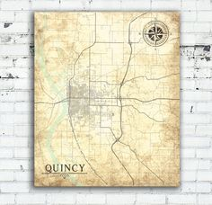QUINCY IL Canvas Print IL Illinois Town City by NatalyBorichArt