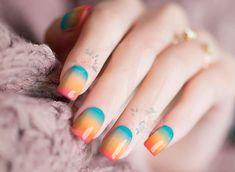 Cute Summer Nails, Spring Nails, Cute Nails, Palm Springs, Coffin Nails Designs Summer, Nail Polish Stickers, Natural Nail Designs, Acrylic Nails Coffin Short, Nail Art Videos