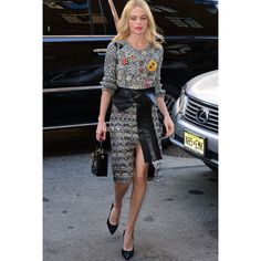 Kate Bosworth In Alexander McQueen 2015 With Kelly and Michael found on Polyvore