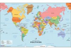 Buy Spanish World Map online Blank World Map, Cool World Map, World Map Online, Usa Road Map, Latitude And Longitude Map, India World Map, World Geography Map, World Political Map, Belgium Map