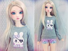 Slim MSD Minifee or SD BJD Sweater - Pirate Bunny