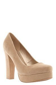 Tricia Taupe Suede Heels (Wide Width) | Shoes