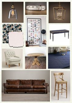 Family Room Inspiration Board - A Life From Scratch.